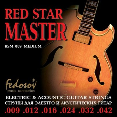 Fedosov RSM009 Red Star Master Medium - струны для электрогитары