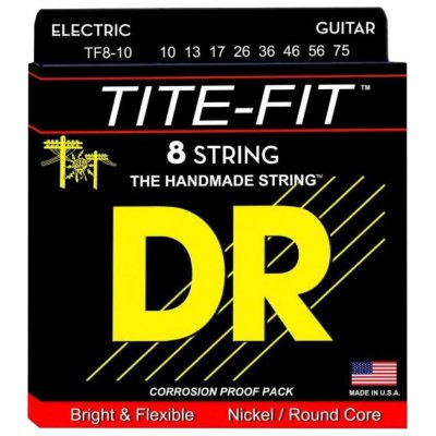 DR TF8-10 Tite-Fit - струны для электрогитары
