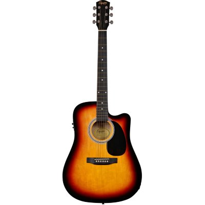 FENDER SQUIER SA-105CE DREADNOUGHT SUNBURST W/FISHMAN PREAMP