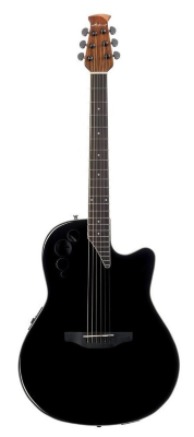 Ovation Applause AE44II Mid Cutaway Black